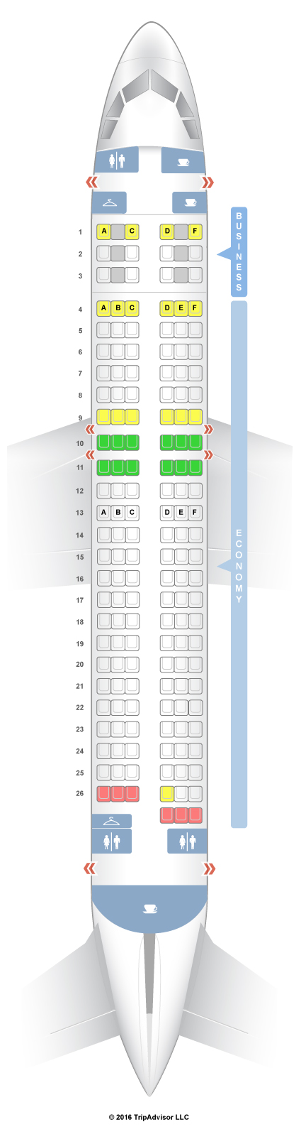Airbus A320 Seating United Airlines United Airbus A319 Seat Map