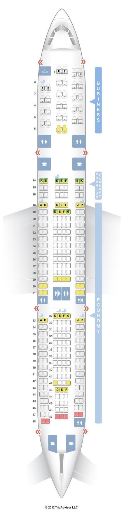 Seatguru Seat Map Air France Airbus A340 300 343